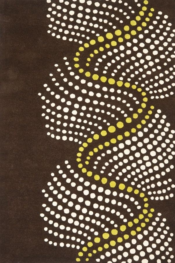 Brown, Beige (A) Contemporary / Modern Area Rug