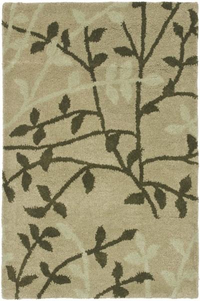 Green (A) Floral / Botanical Area Rug