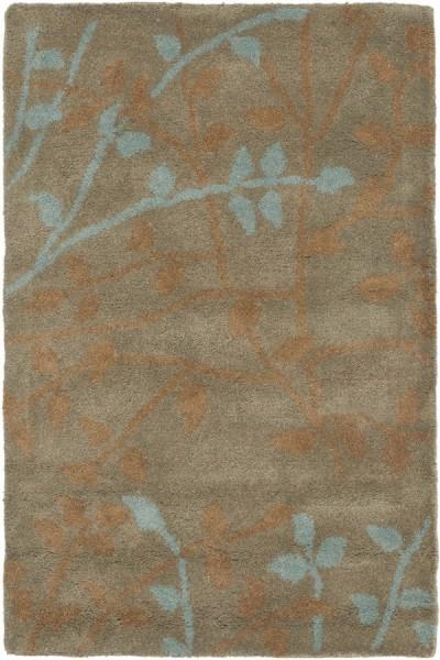 Light Brown (D) Floral / Botanical Area Rug