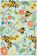 Product Image of Floral / Botanical Blue, Yellow (B) Area Rug