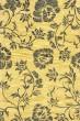 Product Image of Floral / Botanical Gold, Black (A) Area Rug