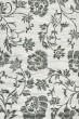 Product Image of Floral / Botanical Grey, Black (B) Area Rug