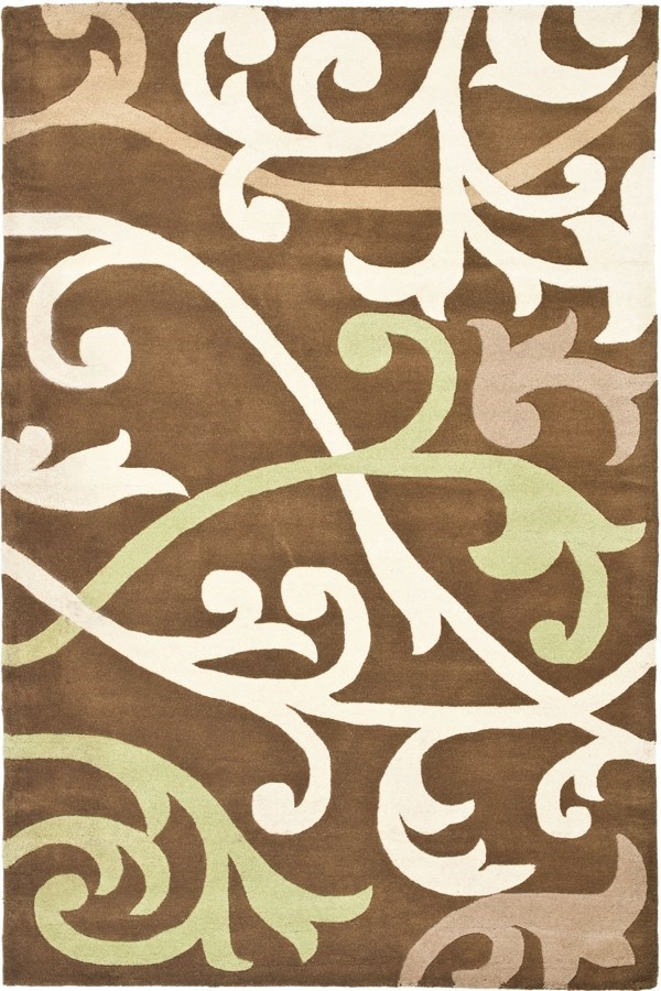 Brown, Ivory (A) Transitional Area Rug