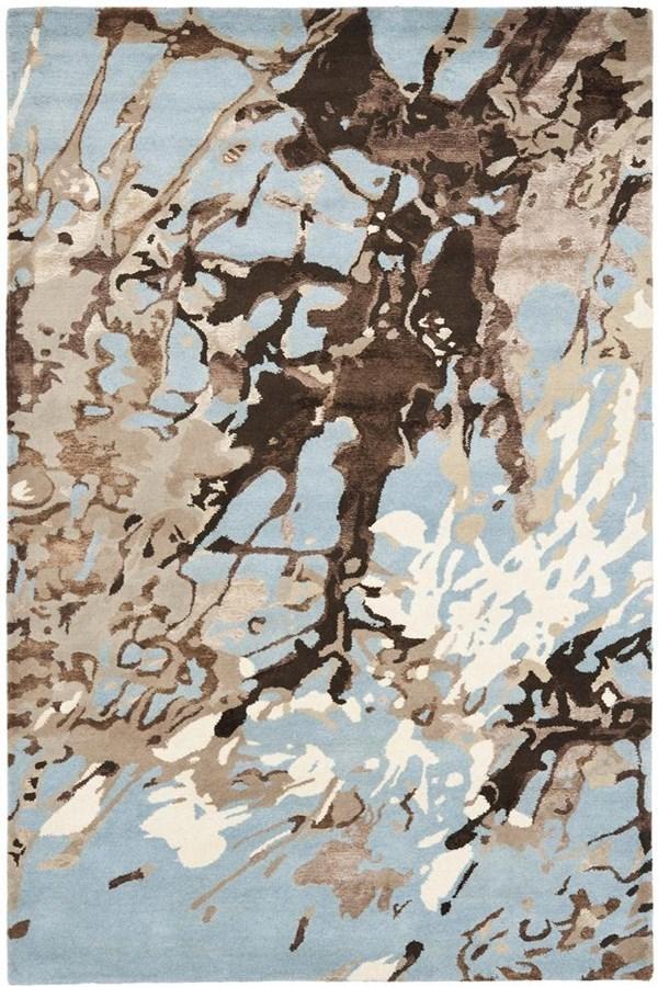 Blue (A) Contemporary / Modern Area Rug