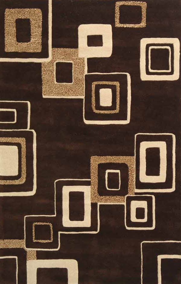 Brown, Beige (B) Contemporary / Modern Area Rug