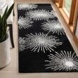 Product Image of Black, White (D) Contemporary / Modern Area Rug