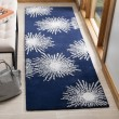Product Image of Dark Blue, Ivory (M) Contemporary / Modern Area Rug