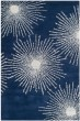 Product Image of Contemporary / Modern Dark Blue, Ivory (M) Area Rug