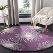 Product Image of Purple, Ivory (P) Contemporary / Modern Area Rug