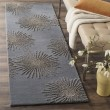 Product Image of Dark Grey, Silver (E) Contemporary / Modern Area Rug