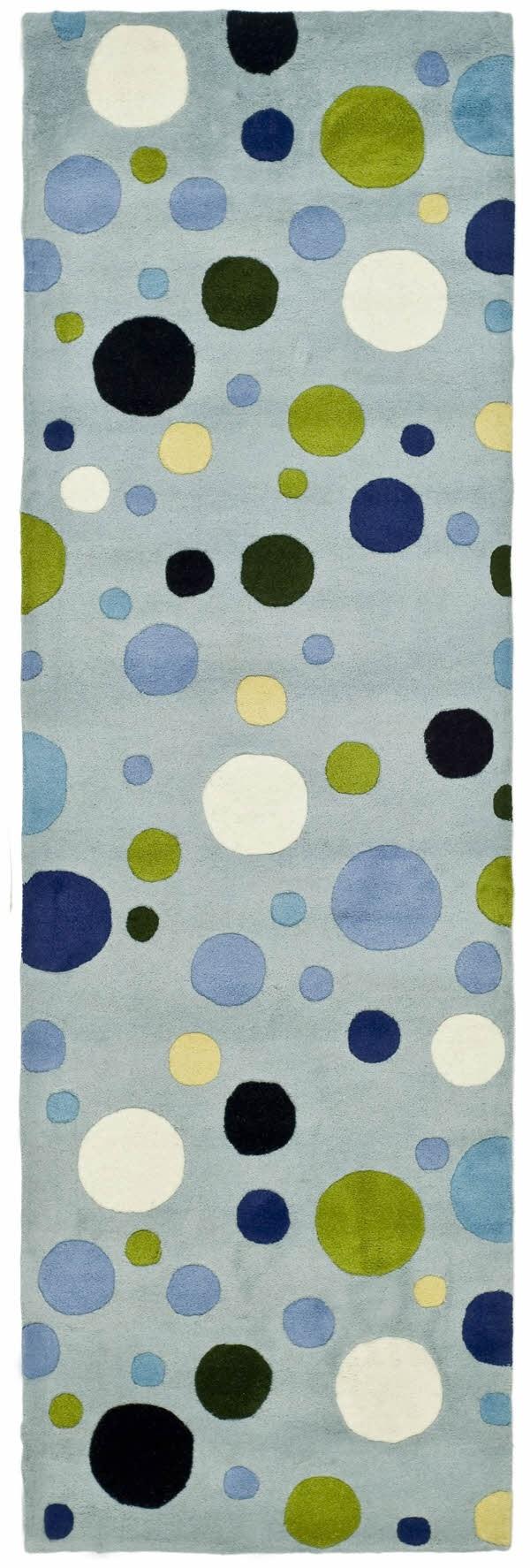 Blue, Green (C) Contemporary / Modern Area Rug