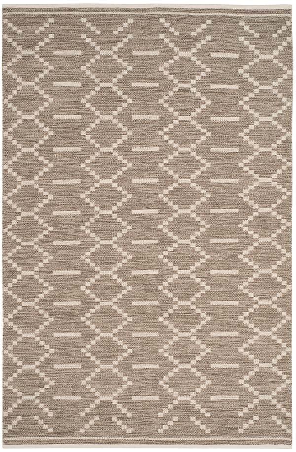 Grey, Ivory (A) Southwestern / Lodge Area Rug