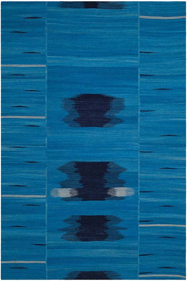 Blue, Purple (A) Abstract Area Rug