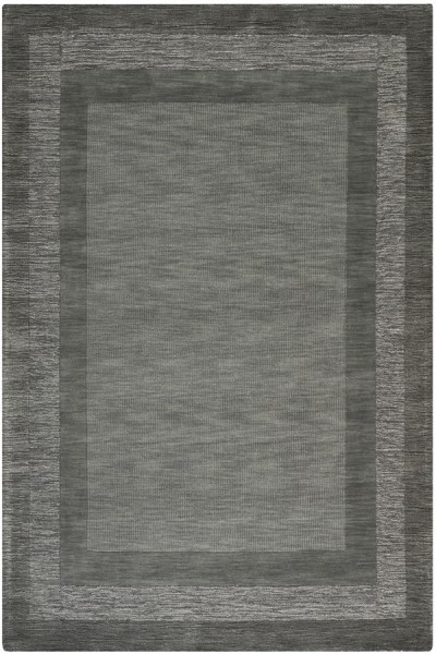 Charcoal, Blue (B) Bordered Area Rug