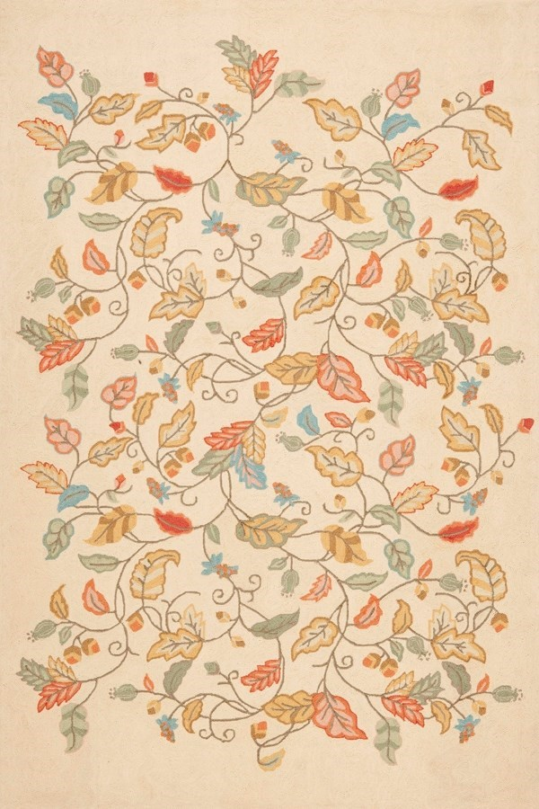 Persimmon Red (MSR-3611A) Floral / Botanical Area Rug