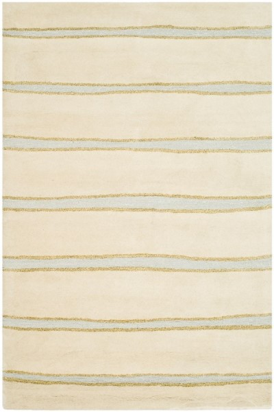 Wheat, Beige (MSR-3617A) Striped Area Rug