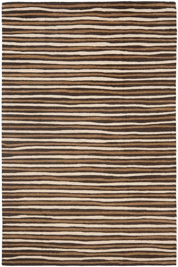 Tilled Soil Brown (MSR-3619B) Striped Area Rug