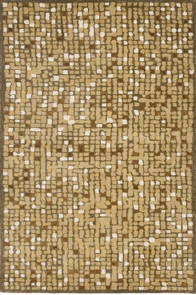 Oolong Tea Green (MSR-3623A) Abstract Area Rug