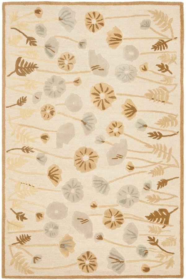 Nutshell, Brown (MSR-3627C) Floral / Botanical Area Rug