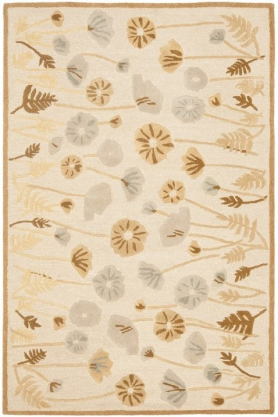 Nutshell, Brown (MSR-3627C) Floral / Botanical Area Rug