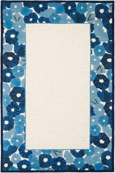 Azurite Blue (MSR-3629A) Floral / Botanical Area Rug