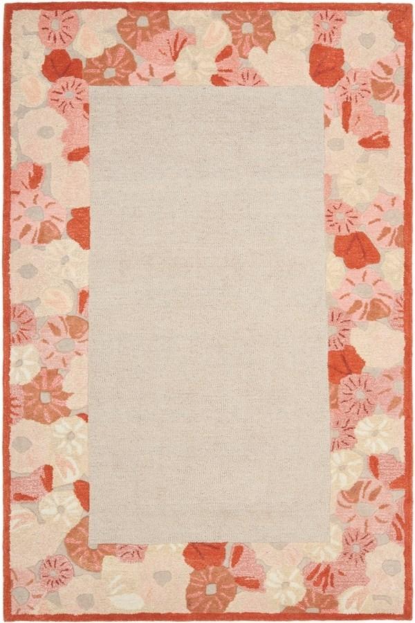 Cayenne Red (MSR-3629C) Floral / Botanical Area Rug