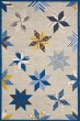 Product Image of Contemporary / Modern Azurite Blue (MSR-3751A) Area Rug