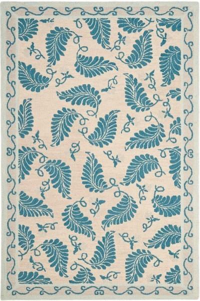 Plumage Blue (MSR-3753A) Floral / Botanical Area Rug