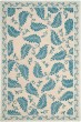 Product Image of Floral / Botanical Plumage Blue (MSR-3753A) Area Rug