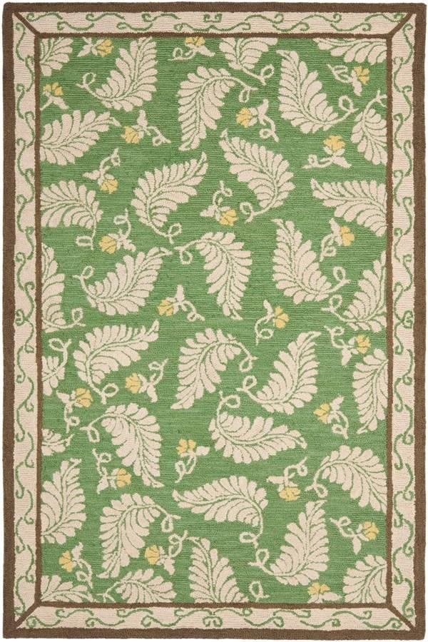 China Green (MSR-3753B) Floral / Botanical Area Rug