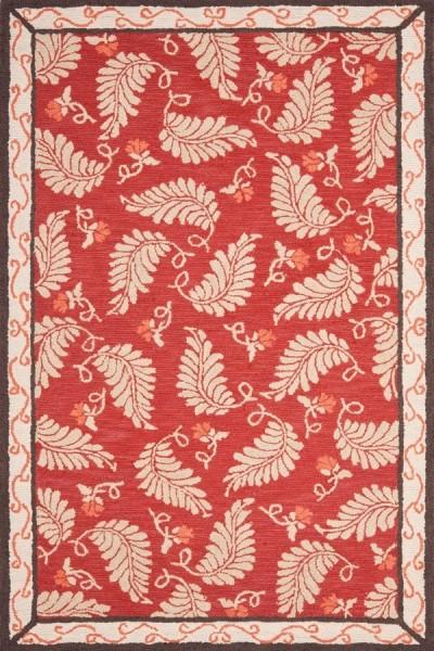 Saffron Red (MSR-3753C) Floral / Botanical Area Rug
