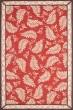 Product Image of Floral / Botanical Saffron Red (MSR-3753C) Area Rug