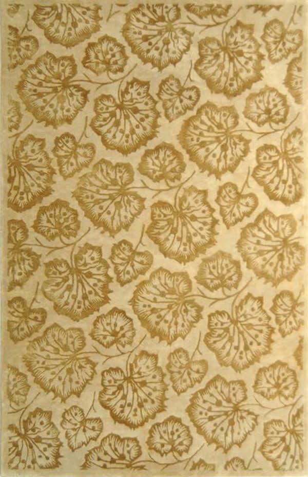 Hazlenut, Gold (MSR-3260J) Floral / Botanical Area Rug