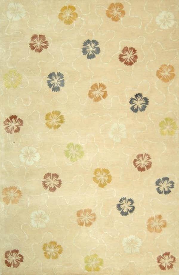 Blush, Beige (MSR-3267A) Floral / Botanical Area Rug