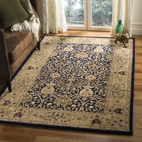 Blue, Gold (C) Traditional / Oriental Area Rug