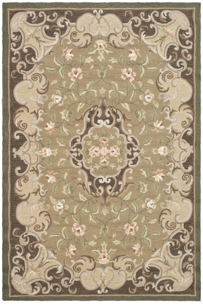 Beige, Brown (C) Traditional / Oriental Area Rug