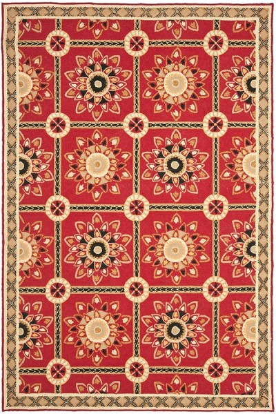 Red, Natural (A) Bohemian Area Rug