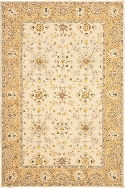 Ivory, Beige (D) Traditional / Oriental Area Rug
