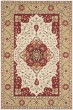 Product Image of Traditional / Oriental Cream, Red (F) Area Rug