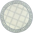 Product Image of Ivory, Light Blue (A) Bordered Area Rug