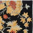 Product Image of Black, Rust (A) Floral / Botanical Area Rug