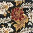 Product Image of Black, Red (A) Floral / Botanical Area Rug