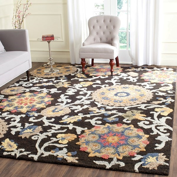 Charcoal (A) Transitional Area Rug
