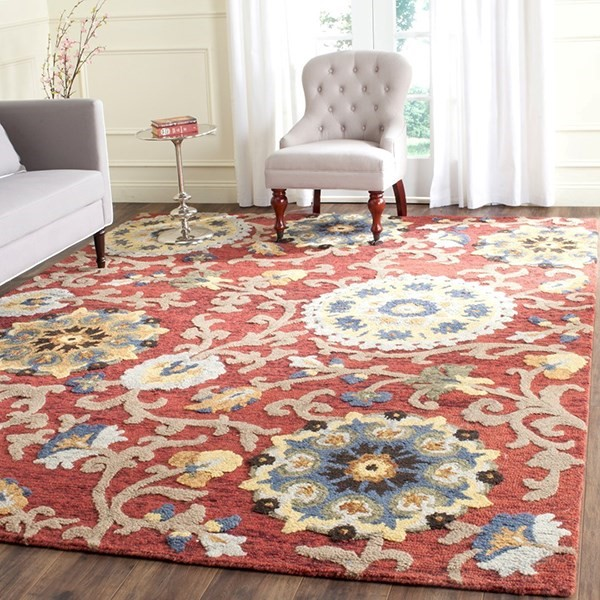 Red (C) Transitional Area Rug