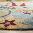 Product Image of Blue, Red (A) Floral / Botanical Area Rug