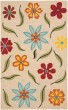 Product Image of Floral / Botanical Beige, Red (A) Area Rug