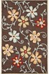 Product Image of Brown, Blue (A) Floral / Botanical Area Rug