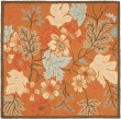 Product Image of Rust, Blue (A) Floral / Botanical Area Rug