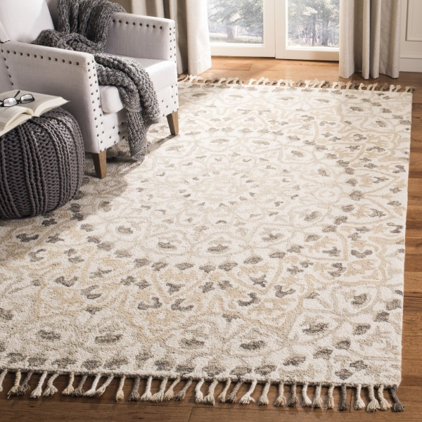 Ivory, Taupe (A) Contemporary / Modern Area Rug