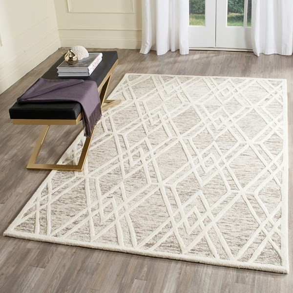 Light Brown, Ivory (R) Transitional Area Rug
